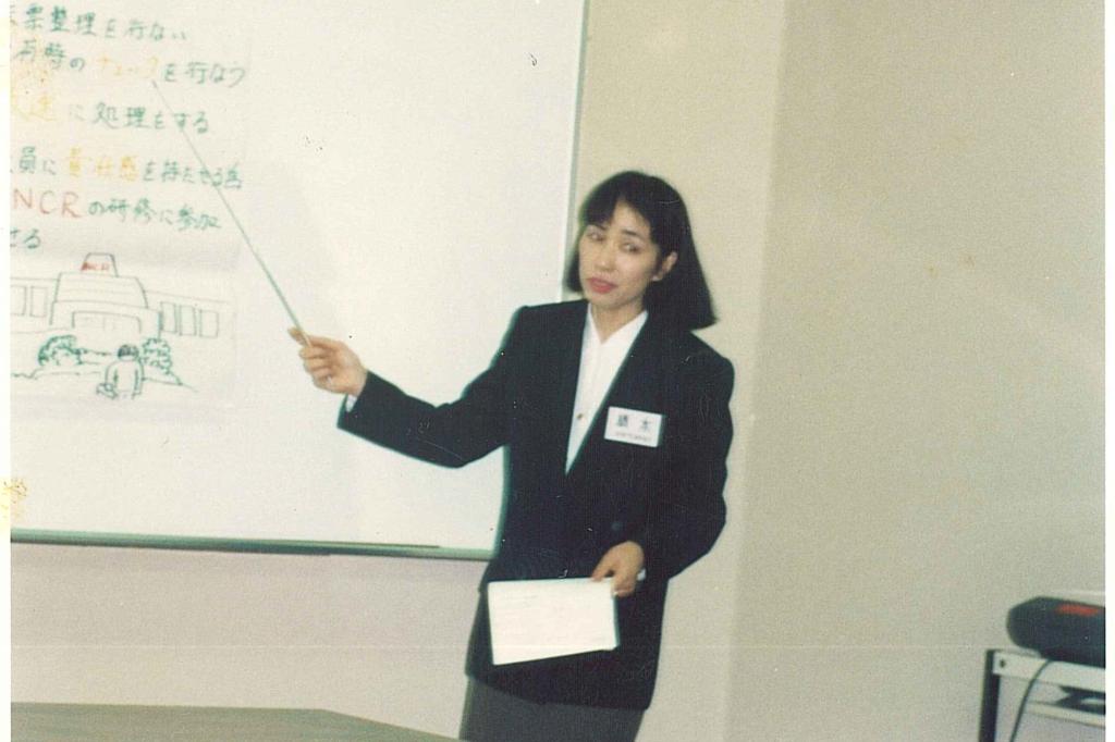 課長時代、外部研修に参加する橋本さん。