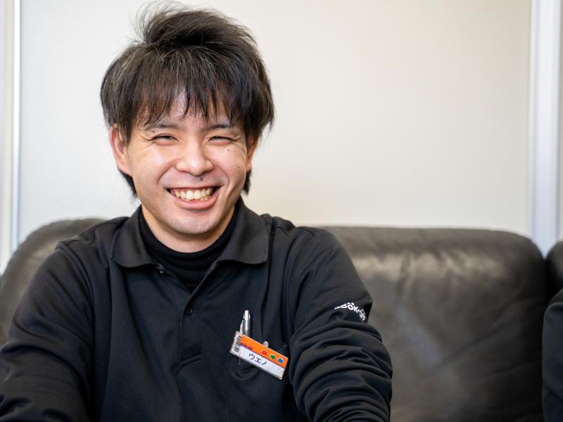 思わず笑顔がこぼれる上野さん