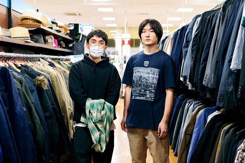 ライターの神田とスタイリストのTAKUYAの並んだカット