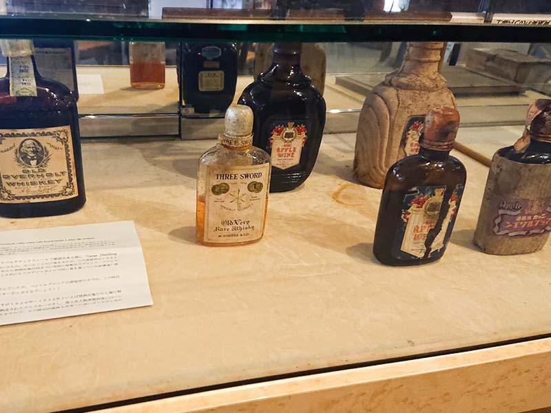 高嶋さんが持つ希少な洋酒コレクションの数々。